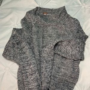 Free People Grey and black Sweatshirt